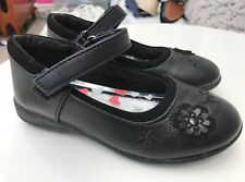 Girls Walkright Black Leather School Shoes Size UK9 Dolly Strap Brand new