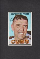1967 TOPPS BASEBALL CARD #39 CURT SIMMONS CHICAGO CUBS VGEX ORIGINAL VINTAGE