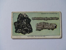 """Ogden's """"The Story Of Sand"""" cigarette card 1935 #39 Natural Silica-Glass"""