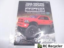 New Axial SCX10 Ram Power Wagon Scale 4WD RTR Instruction Manual AX90037-1001