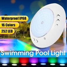 18W RGB 252LED Underwater Swimming Pool Spa Light Waterproof Lamp IP68 +    R