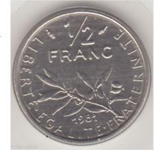 1/2 Franc 1981 FDC sous blister **** A VOIR ****