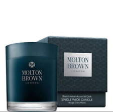 Molton Brown Black Leather Accord and Cade  Single Wick Candle *NEW*