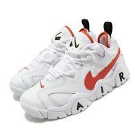 Nike Air Barrage Low EMB Rucker Park 10039 White Orange Black Men CJ5395-100