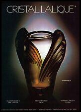 1982 Art Deco Cristal Lalique Marrakech Crystal Vase Vintage Photo PRINT AD