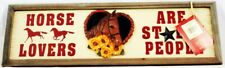 Red Shed Wood Sign Horse Lovers - Are Stable Decor New Western Garden