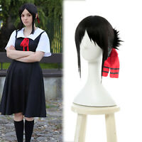 Love Is War Shinomiya Kaguya Cosplay Wigs Black Short Straight Hair headdress