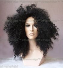 Almost Black Diana Ross Style  Afro Spiral Curls Fizz  Wig/wigs