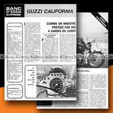 ★ MOTO GUZZI CALIFORNIA 850 GT ★ 1972 Essai Moto / Original Road Test #b8