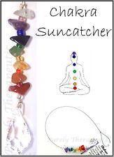 CHAKRA Sun Catcher~Crystal Gemstone Healing~Handmade~Reiki Wicca Pagan Mobile