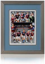 West Ham United Boys di 86 mano firmato Montage By 12 AFTAL prova fotografica COA