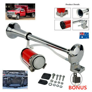 150db Car Truck Mega Train Loud Single Trumpet Air Horn Kit DC 12V Compressor AU
