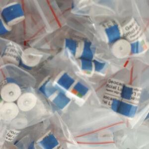 Logsheets Nano 1 - 5 Geocache wasserfeste Logbücher Logstreifen Geocaching