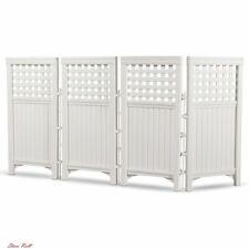 Screen Enclosure Outdoor Durable Resin 4 Panels Versatile White Patio Suncast