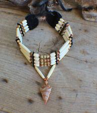 Native American Bracelet w//Magnesite Turquoise Cherokee made William Lattie Cert