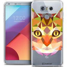 Coque Housse Etui Pour LG G6 Polygon Animal Souple Fin Chat