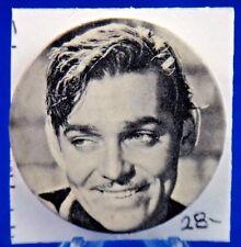 "Clark Gable Actor Hollywood Movie Star Pin Pinback Button 1 3/4"""