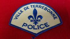 Police Patch: VILLE DE TERREBONNE POLICE  QUEBEC