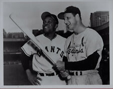 Stan Musial (Cardinals) and Willie Mays (Giants) - 8x10 Photo - Hall of Fame