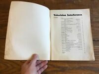 TELEVISION INTERFERENCE Book Remington Rand Laboratory QST Amateur Radio Guide