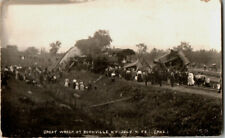 S21.1851 RPPC Postcard Great Train Wreck Disaster Boonville NY July 4 1908