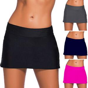 Pantaloncini donna costume da bagno shorts minigonna slip mare piscina DL-2232