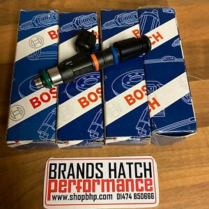 Ford Cosworth YB GENUINE Bosch 550cc Fuel Injectors & Height Adaptors X4