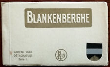 More details for nels blankenberghe detachable view cards series 1. belgium 12 postcards 1940's