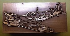 "ROYAL AIR FORCE ""WW2 SPITFIRE"" FIGHTER PLANE PRINTING BLOCK."