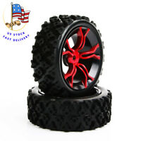 US 4Pcs Rubber Tires&Wheel Rims For HSP HPI 1:10 RC Rally Racing Off-Road Car