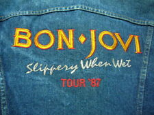 Bon Jovi 1987 Slippery When Wet Tour Jacket Rare Vintage Original Employee Owned