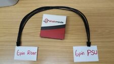 6pin Pci-E Riser Card Cable 60cm to 6 pin Power Supply PSU Corsair EVGA Seasonic