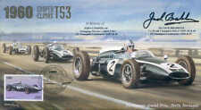 1960d COOPER-CLIMAX T53s & LOTUS 18, PORTO F1 cover signed JACK BRABHAM