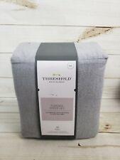 Threshold Flannel Sheet Set Full Gray