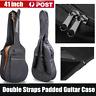 "41"" Acoustic Guitar Double Straps Padded Guitar Soft Case Gig Bag AG"