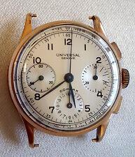 RARE Universal Geneve Vintage Compax Chronograph 18 Karat Rose Gold Caliber 285