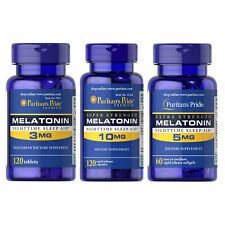 Puritan's Pride Melatonin 3 / 5 / 10 mg Sleep Aid Sleeping Pills Anxiety Relief