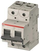ABB AC/DC solar/UPS MCB S802C-D125, 125amps 16kA 2 pole MCB. D Curve