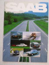 Prospekt Saab Programm: 99, 900, Modelle 1982, 8 Seiten, folder