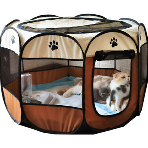 Pet Fence Puppy Kennel Cat Dog House Octagonal Cage Pet Tent Pet Delivery Room