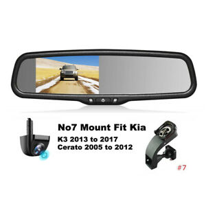 "4.3"" Car Rear View Mirror Monitor No7 Mount+Reversing Camera Kit For Kia Cerato"