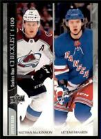 2020-21 UD Series 1 Base #199 Nathan MacKinnon/Artemi Panarin CL  - Colorado/New