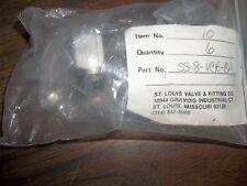 NEW  SWAGELOK LOT OF 3  CAJON FACE SEAL CAPS SS-8-VCR-CP  (BIN104)