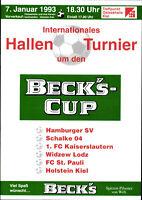 1993 HT Kiel mit Schalke 04, Widzew Lodz, 1. FC Kaiserslautern, FC St. Pauli, ..