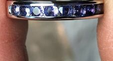 Yogo Sapphire color change 1.07tcw 14kt white gold ring