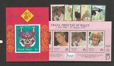 Norfolks 1998 MS, Diana & New Year, 98 cats & diana single MM SG MS657/661 & 664