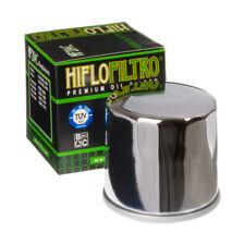2x HIFLO HF204C Cromo Plateado De Alta Perf. M/CICLO Filtro De Aceite + + Lavadora de gastos de envío Gratis!