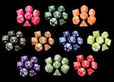70 Polyhedral Dice with Bag - Includes 10 Complete Sets of 7 Dice - RPG D&D