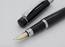 Baoer Art & Calligraphy Black Marbled Finish Golden Nib Fountain Pen