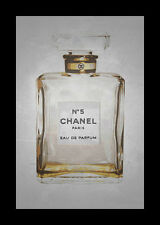 FRAMED Chanel No. 5 in Gold 18x12 Art Print Wall Decor by Kelissa Semple